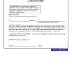 California Notary Public Acknowledgement