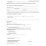 Georgia USA Passport Affidavit with Notary Public