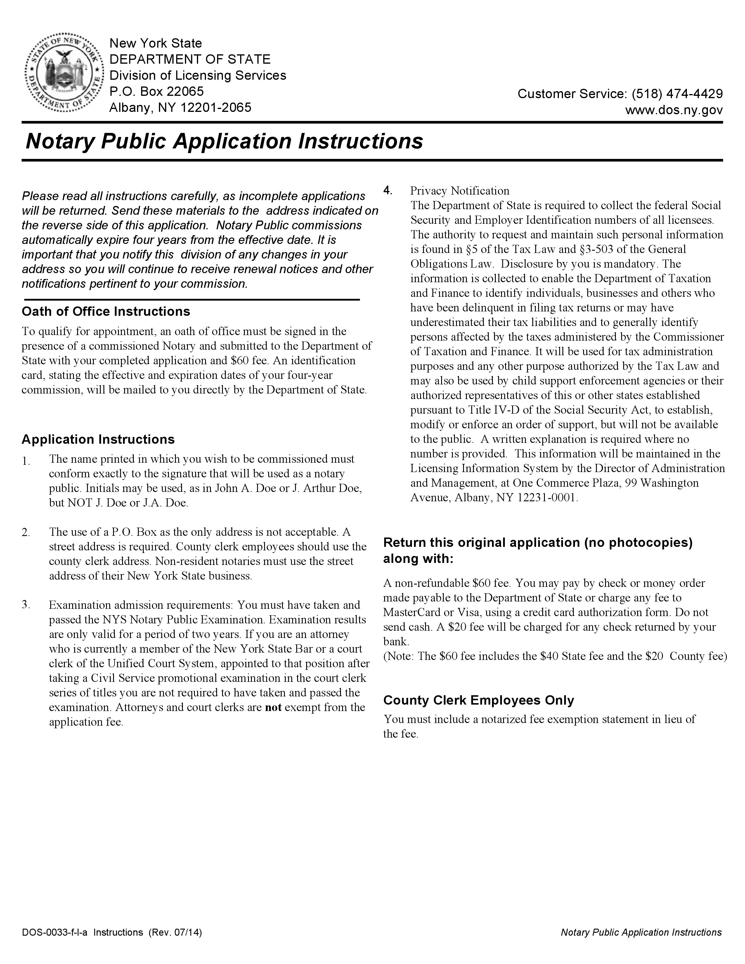 New York Notary Public Application Form – Notary Public Near Me